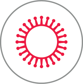 Virus red icon