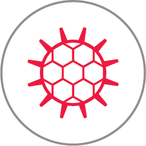 Pollen red icon